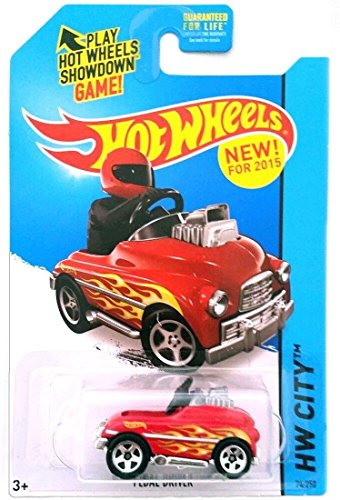Hot Wheels, 2015 HW City, Pedal Driver [Red] Die-Cast Vehicle #74/250
