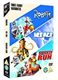 Family Triple (Robots, Ice Age, Chicken Run) [DVD]