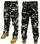 Adultes Combat Pantalons - NOIR BLANC...