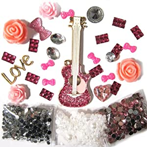 Amazon.com: DIY 3D Bling Cell Phone Case Deco Kit : Rhinestone Bow and Daisies Cabochons: Arts ...