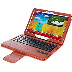 Poetic KeyBook Bluetooth Keyboard Case for Samsung Galaxy Note 10.1 2014 Edition Tablet Brown (3 Year Manufacturer Warranty From Poetic)