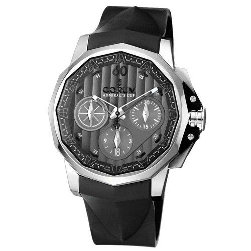 Corum Men's 75377120/F371AK Admiral Cup Black Rubber Strap Grey Dial Watch