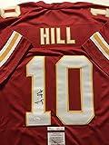Autographed/Signed Tyreek Hill Kansas City Chiefs Red Football Jersey JSA COA