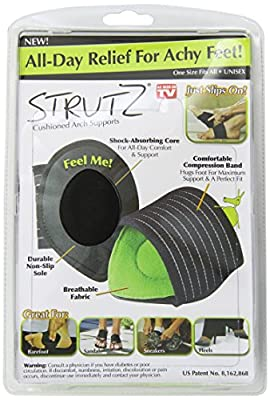 Strutz Cushioned Arch Supports, Green, 2 Count