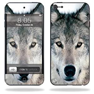 Protective Skin Decal Cover for Apple iPod Touch 5G (5th generation) MP3 Player Sticker Skins Wolf