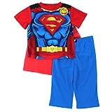 Superman Boys Red Pajamas with Cape