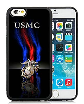 Custom Design With Delicate marine corps Black iPhone 6 TPU 4.7 inch Case
