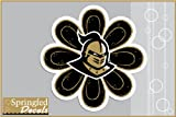 "UCF Knights KNIGHT FLOWER 4"" Vinyl Decal Central Florida Car Truck Sticker"