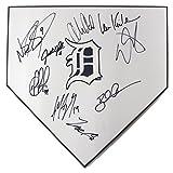 Detroit Tigers 2017 Team Autographed Signed Baseball Home Plate Kinsler Upton Castellanos