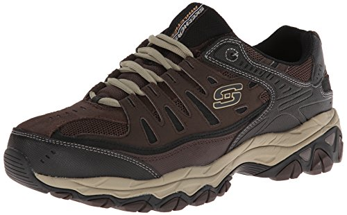Skechers Sport Men's Afterburn Memory Foam Lace-Up Sneaker,Brown/Taupe,10.5 M US