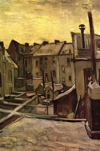 Walls 360 Peel & Stick Wall Decals: Backyards of Old Houses Antwerp in the Snow by Van Gogh (12 in x 18 in)