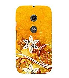 Fantastic Floral Pattern 3D Hard Polycarbonate Designer Back Case Cover for Motorola Moto E2 :: Motorola Moto E (2nd Gen)