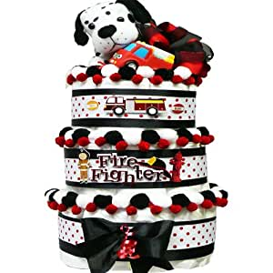Amazon.com : Firemens Best Friend Gift Basket with Plush Dalmation