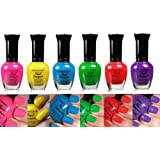 Kleancolor Nail Polish NEON Colors Lot of 6! Lacquer Neon Collection + Free Earring Gift