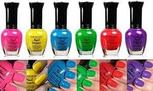 Kleancolor Neon Nail Lacquer 6 Colors Set
