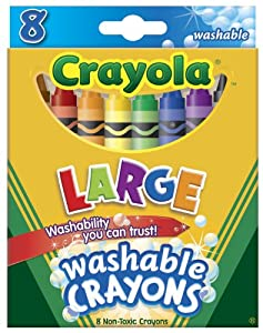 Crayola Washable Crayons - Large, 8 Colors