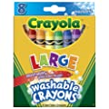 Crayola 8 Large Jumbo Washable Crayons [Toy]