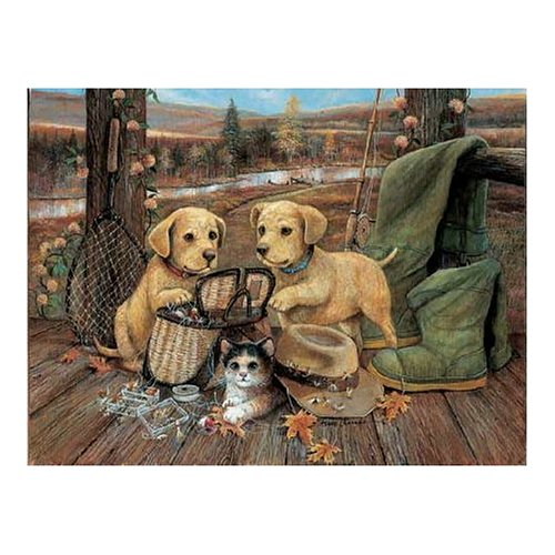 Master Pieces Fishing Fun 550 Piece Jigsaw Puzzle