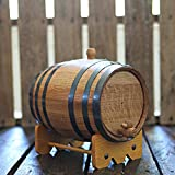 5-liter American Oak Barrel | Handcrafted using American White Oak | Age your own Whiskey, Beer, Wine, Bourbon, Tequila, Hot Sauce & More