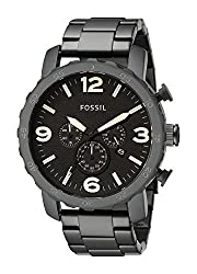 Fossil Nate stopwatch chronograph Brown Dial Mens Watch - JR1356