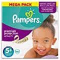 Pampers Size 5 Plus Active Fit Mega Box - Pack of 68 Nappies