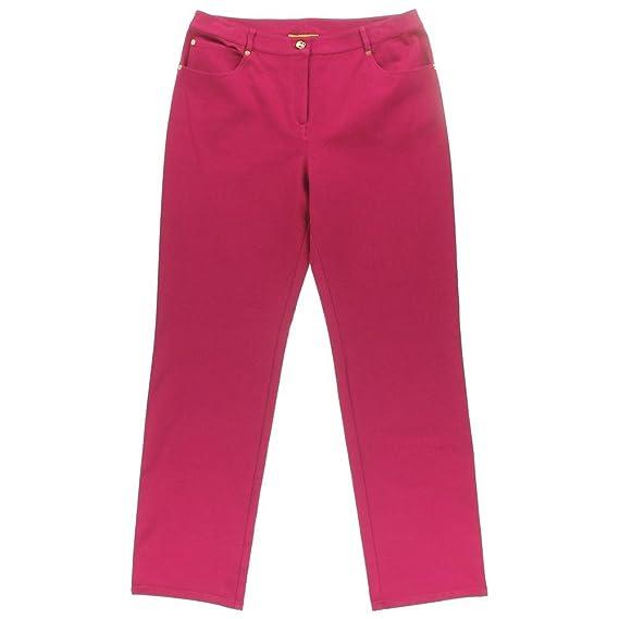 St John Womens High Waist Solid Bootcut Jeans