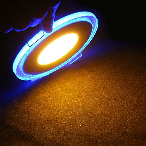 Sunsbell Led Acrylic Panel Light 10W Round Ceiling Down Light Spotlight Lamp Recessed Lighting Fixture Perfect For Kitchen Lamp Living Room Lighting Bathroom Lamp -Warm White