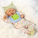 Paradise Galleries Realistic Baby Dolls, Sleepy Frog, 19 inch With Weighted Body (Artist: Michel...