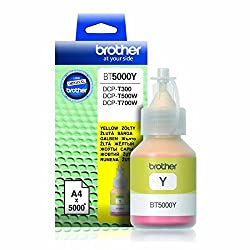 Brother BT5000Y Genuine Ink Bottle Yellow colour For T300,T500,T700W,T800W Printers