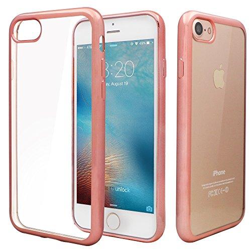 "iPhone 7 Custodia,iPhone 7 Clear Case,Nakeey TPU Custodia per iPhone 7 Design Protettiva Custodia Hard Soft Cover Per iPhone 7 4.7"",Rose Gold"
