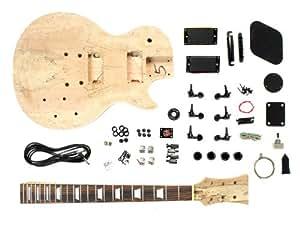 Bausatz für E-Gitarre (PL-Style, mit Schraubhals, geschnitztes Mahagoni)