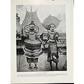 マライ区の悪魔払いの祈祷師の西海岸 C1931 の写真の印刷物の古い芸術