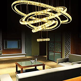 Ceiling Lights Crystal LED Modern Living Room Dining Room Hallway D80 60 50