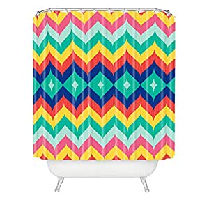 DENY Designs Juliana Curi Woven Polyester Chevron 5 Shower Curtain Multi Col