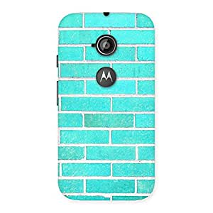 Delighted Brick Cyan Back Case Cover for Moto E 2nd Gen