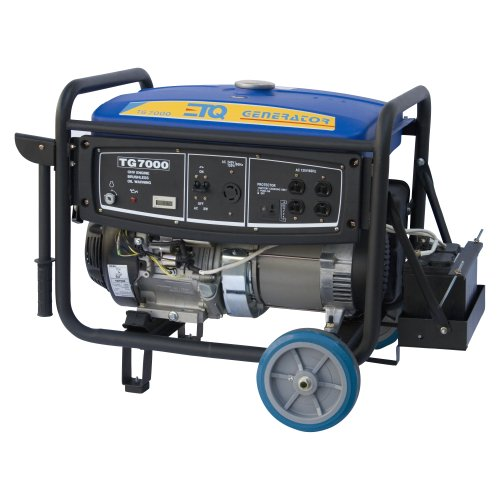 Image of ETQ TG7000E 7,000-Watt Portable Generator with Electric Start (TG7000E)