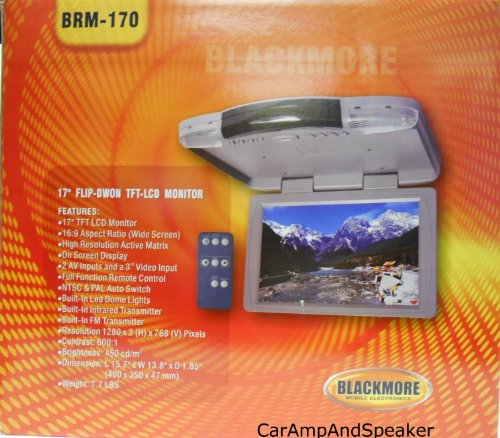 "Blackmore Brm-170 17"" Tft Flip Down Monitor"