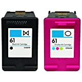 HouseOfToners 2pk HP 61 Black & Color Replacement Ink Cartridges (Remanufactured in the USA)