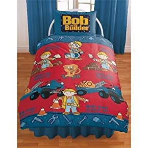 Official Bob The Builder Tools Bedding Set Duvet Cover and Pillow Case