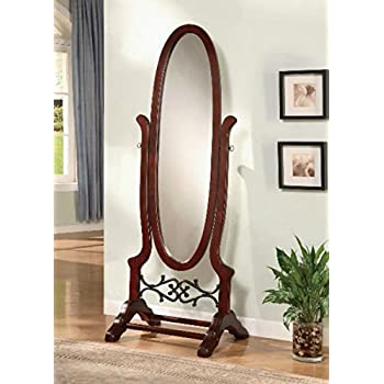 Wildon Home Cherry Full Length Standing Seatac Cheval Floor Mirror - This Oval Floor Mirror Is in Beautiful Contemporary Style and Is the Perfect Addition to Your Bedroom, Living Room, Family Room, Office or Any Other Room in You Home