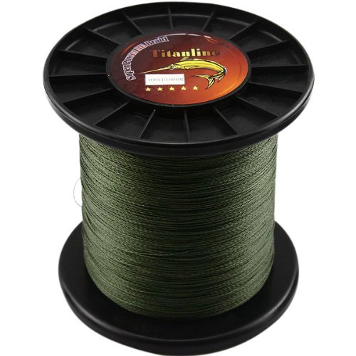 Titanline Super High Grade Fiber PE Briad Braided Fishing Line Green 100LB 1000M Meters