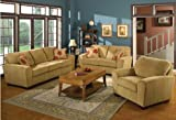 New 3Pc Contemporary Modern Fabric Sofa Set #AC-HANNA
