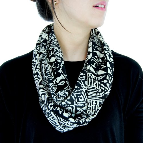 Basico Lady Fashion Scarf Infinity Stylish Soft Wrap Long Black2