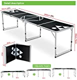 Decorland 8' Aluminum Beer Pong Drinking Game Folding Tailgate Party Table Portable New
