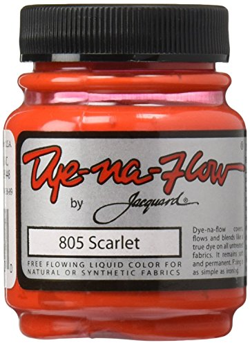 Jacquard Dye-Na-Flow Liquid Color 2-1/4 Ounces-Scarlet (Scarlet Red Dye compare prices)