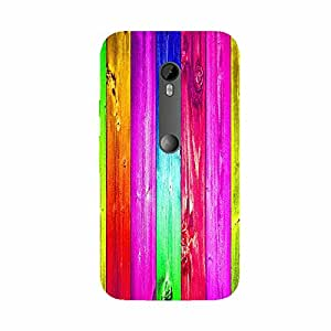Back cover for Moto G Turbo Colourful Wood