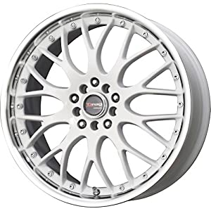 Drag DR-19 White Wheel with Machined Lip (18×7.5″/5x100mm)