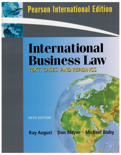 International Business Law:International Edition: Text, Cases, and Readings