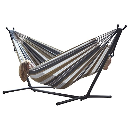 Vivere – Double Desert Moon Themed Hammock Combo with 9 Foot Stand