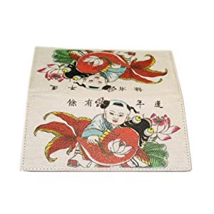 MIAN Chinese Year pictures Environmentally Friendly Canvas Wallet - Size: Medium - Multicoloured by MIAN